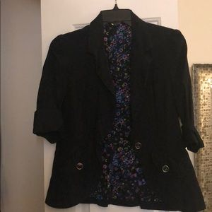 Black blazer (just floral on the inside)